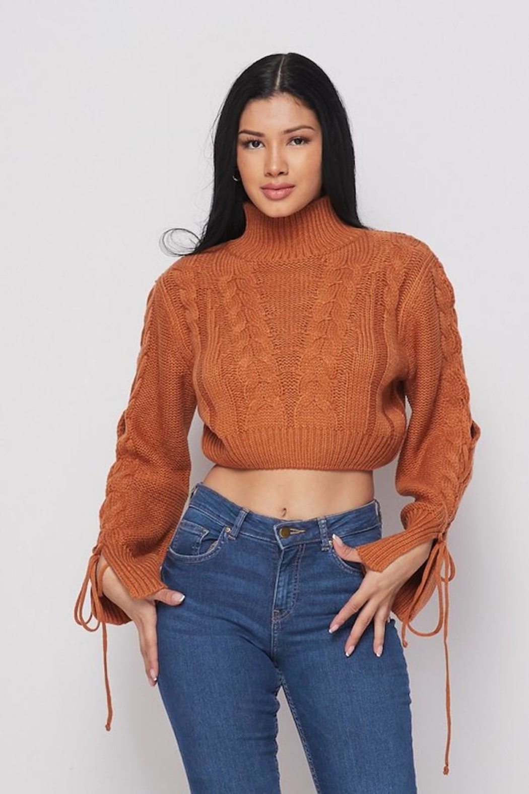 Bonded Cropped Sweater - Main Image