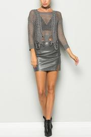 Bonded Knit Cropped Sweater - Product Mini Image