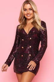 Bonded Long Sleeve Dress - Front cropped