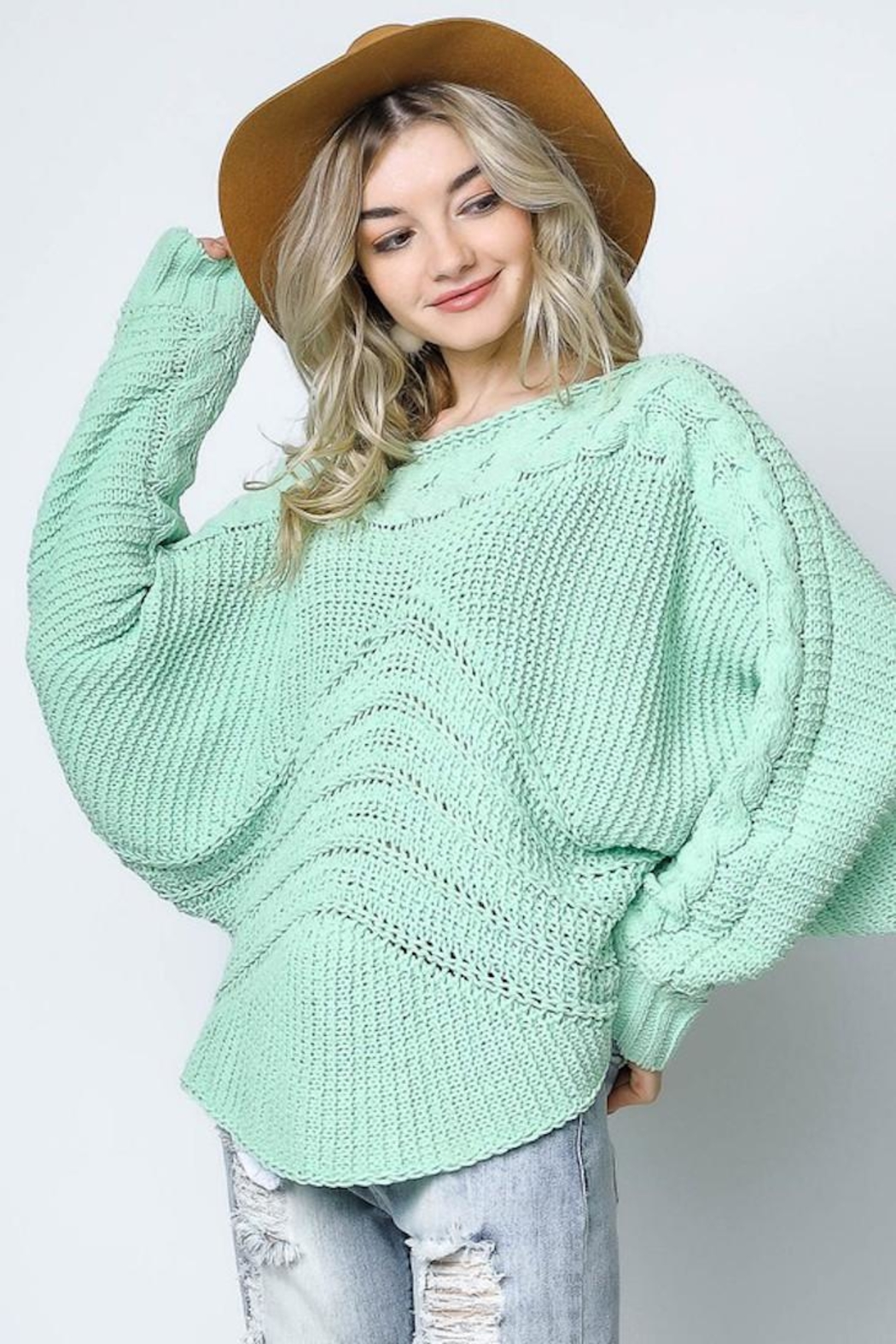 Bonded Mint Sweater - Main Image