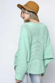 Bonded Mint Sweater - Back cropped