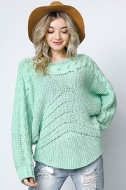 Bonded Mint Sweater - Front full body