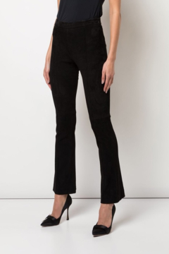 Adam Lippes Bonded Neoprene Cropped Flare Pant - Product List Image