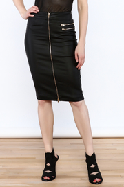 Bonded Noir Zipper Skirt - Product Mini Image