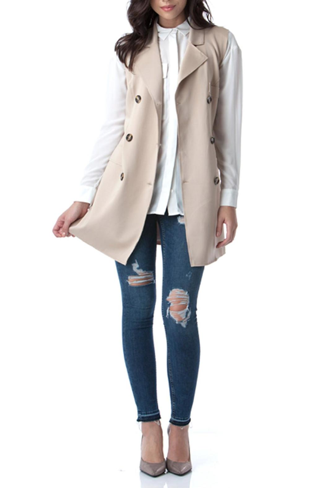 Bonded Trench Vest - Front Cropped Image