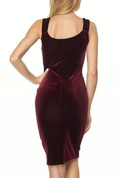 Bonded Velvet Cocktail Dress - Alternate List Image