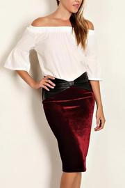 Bonded Velvet Pencil Skirt - Product Mini Image