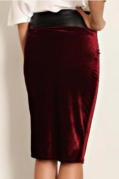 Bonded Velvet Pencil Skirt - Alternate List Image