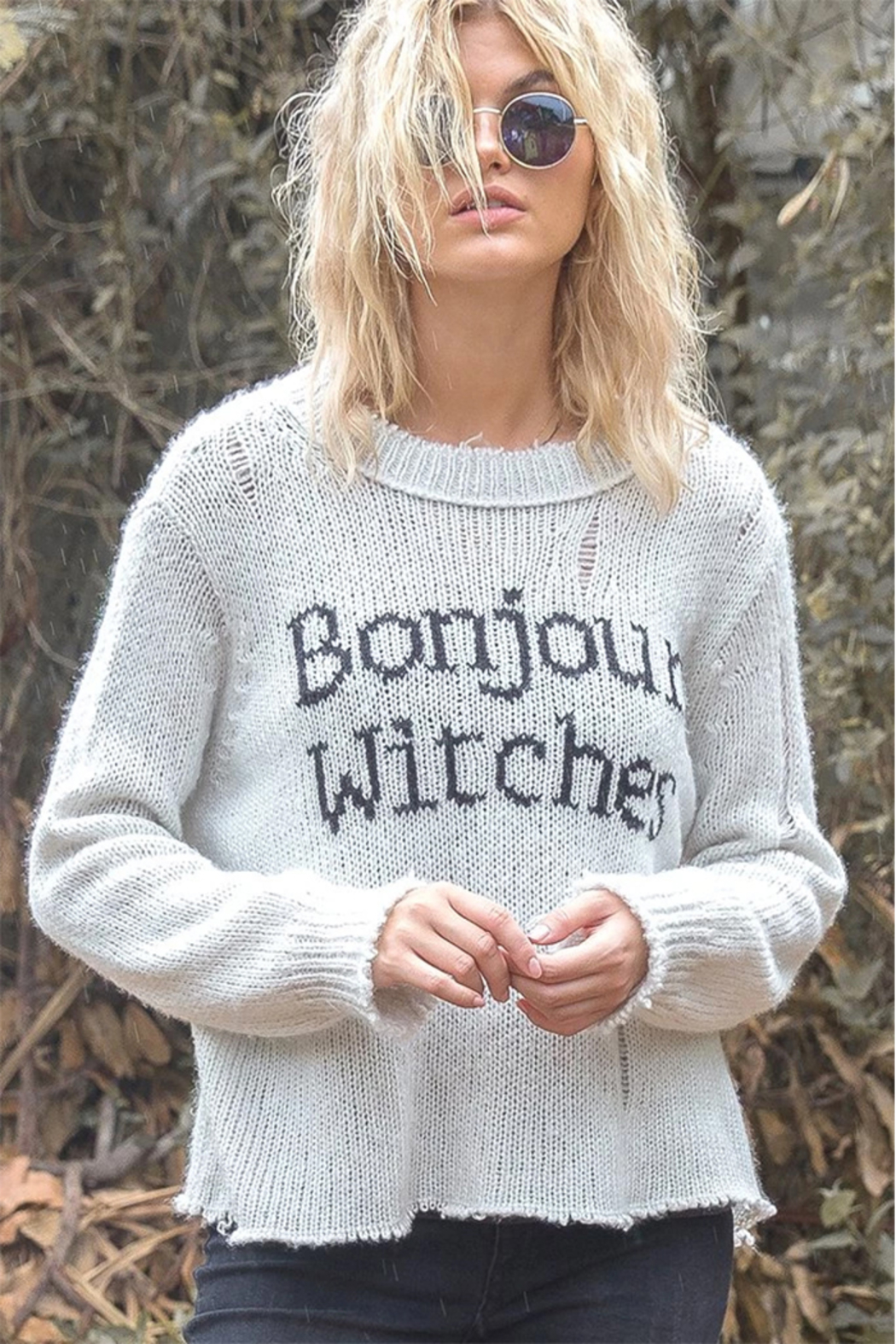 Wooden Ships Bonjour Witches Pullover - Back Cropped Image