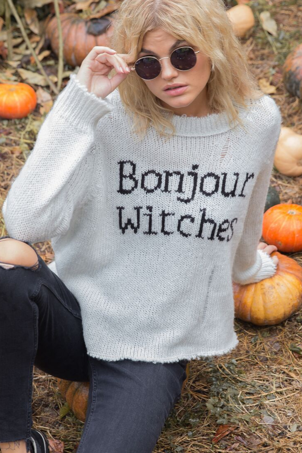 Wooden Ships Bonjour Witches Sweater - Side Cropped Image
