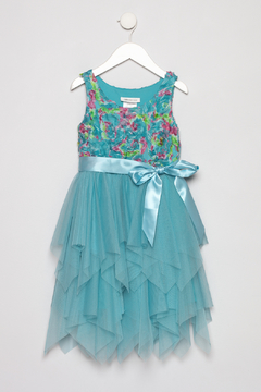 Bonnie Jean Aqua Petal Dress - Product List Image