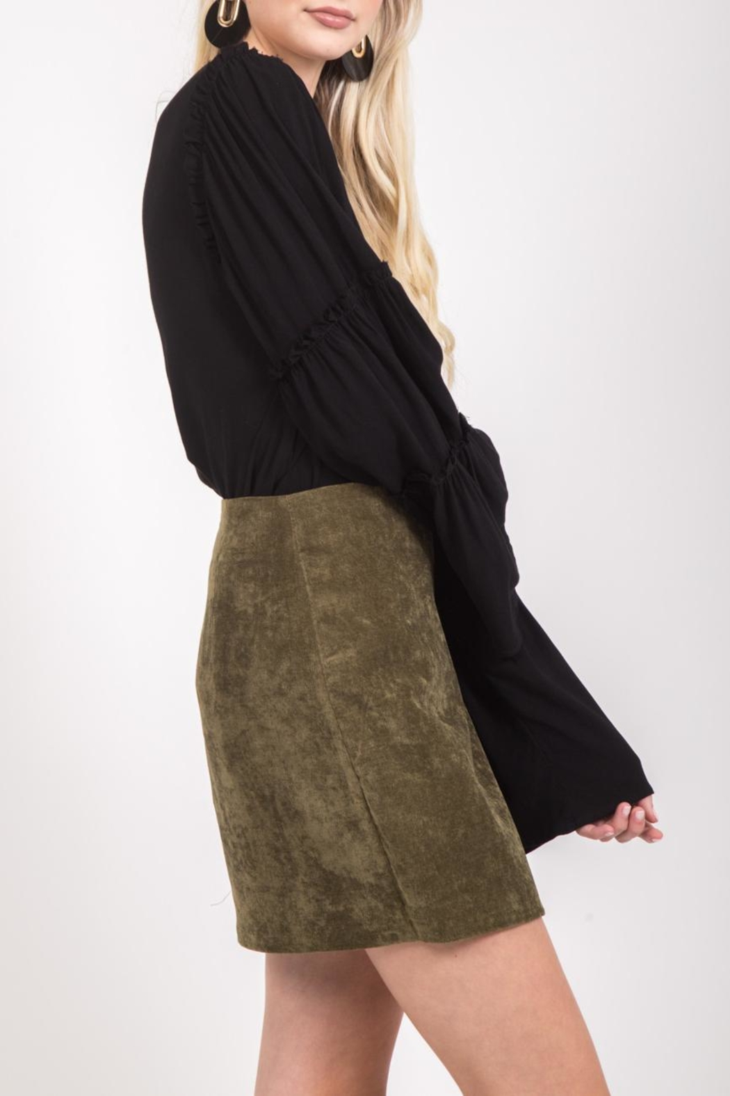LoveRiche Bonnie Skirt Olive - Front Full Image