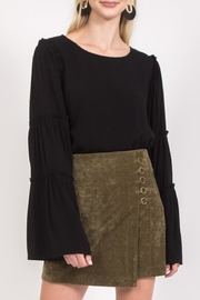 LoveRiche Bonnie Skirt Olive - Front cropped