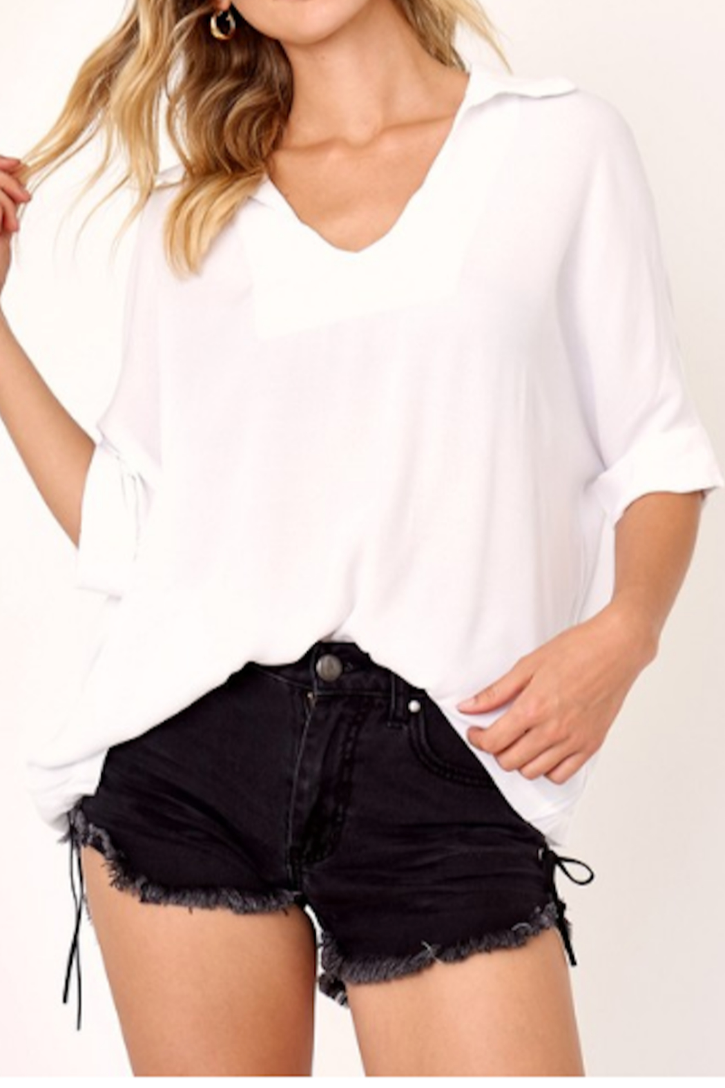 Olivaceous Bonny Relaxed Fit Blouse - Main Image