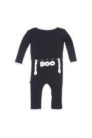 Kickee Pants BOO Applique Coverall - Front full body