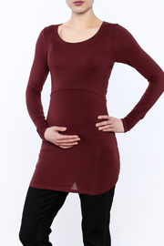 Boob Design Marsala Long Sleeve Top - Front cropped