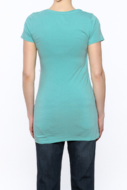 Boob Design Sky Blue Tunic Top - Back cropped