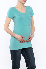Boob Design Sky Blue Tunic Top - Front cropped