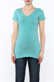 Boob Design Sky Blue Tunic Top - Side cropped