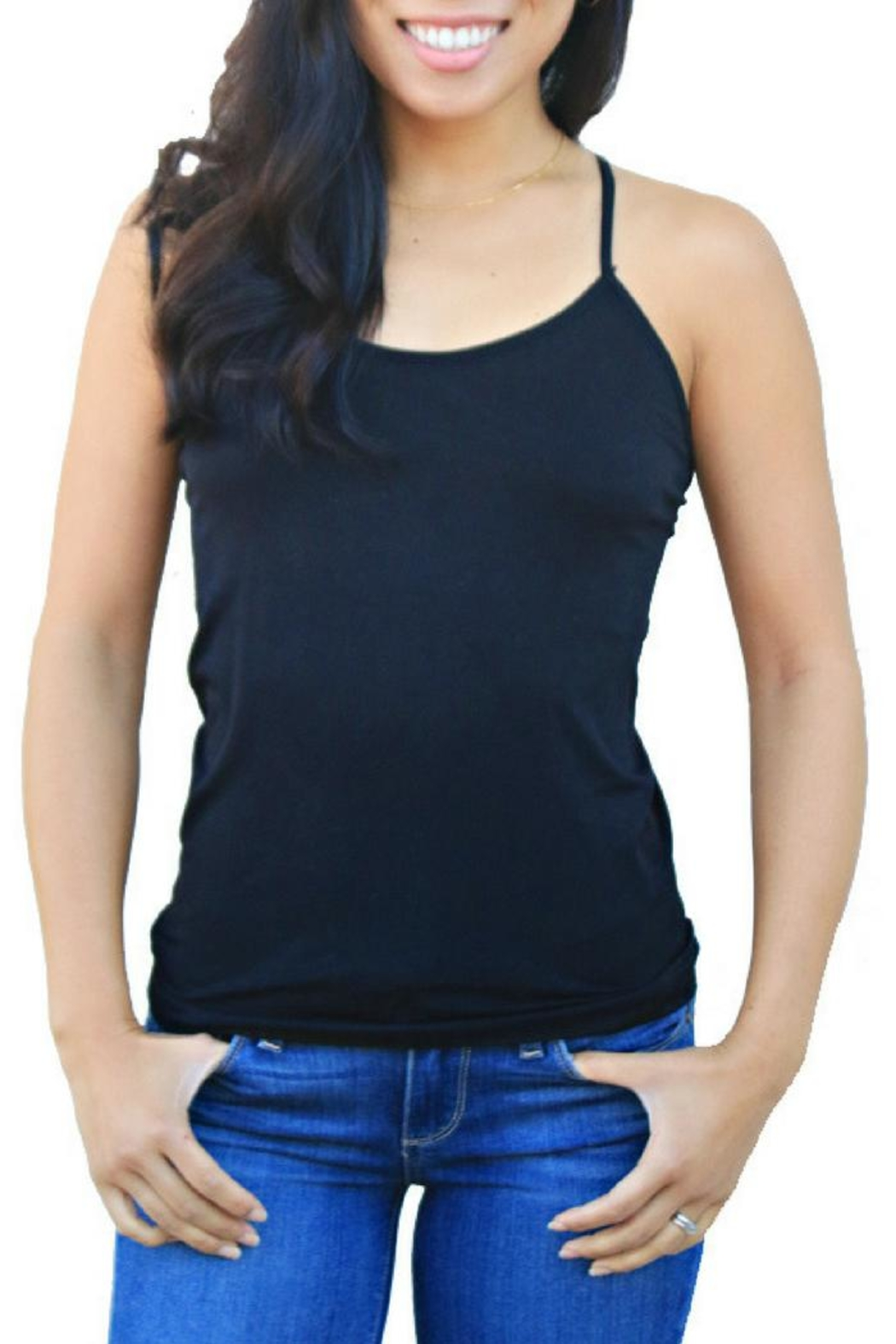 Boob-eez Racerback Cami - Front Cropped Image