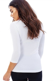Boody Bamboo White Scoop-Neck - Front full body