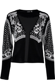 Boohoo Beaded Velvet Jacket - Side cropped