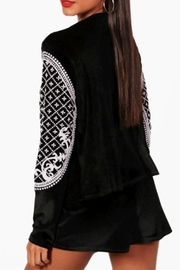 Boohoo Beaded Velvet Jacket - Front full body