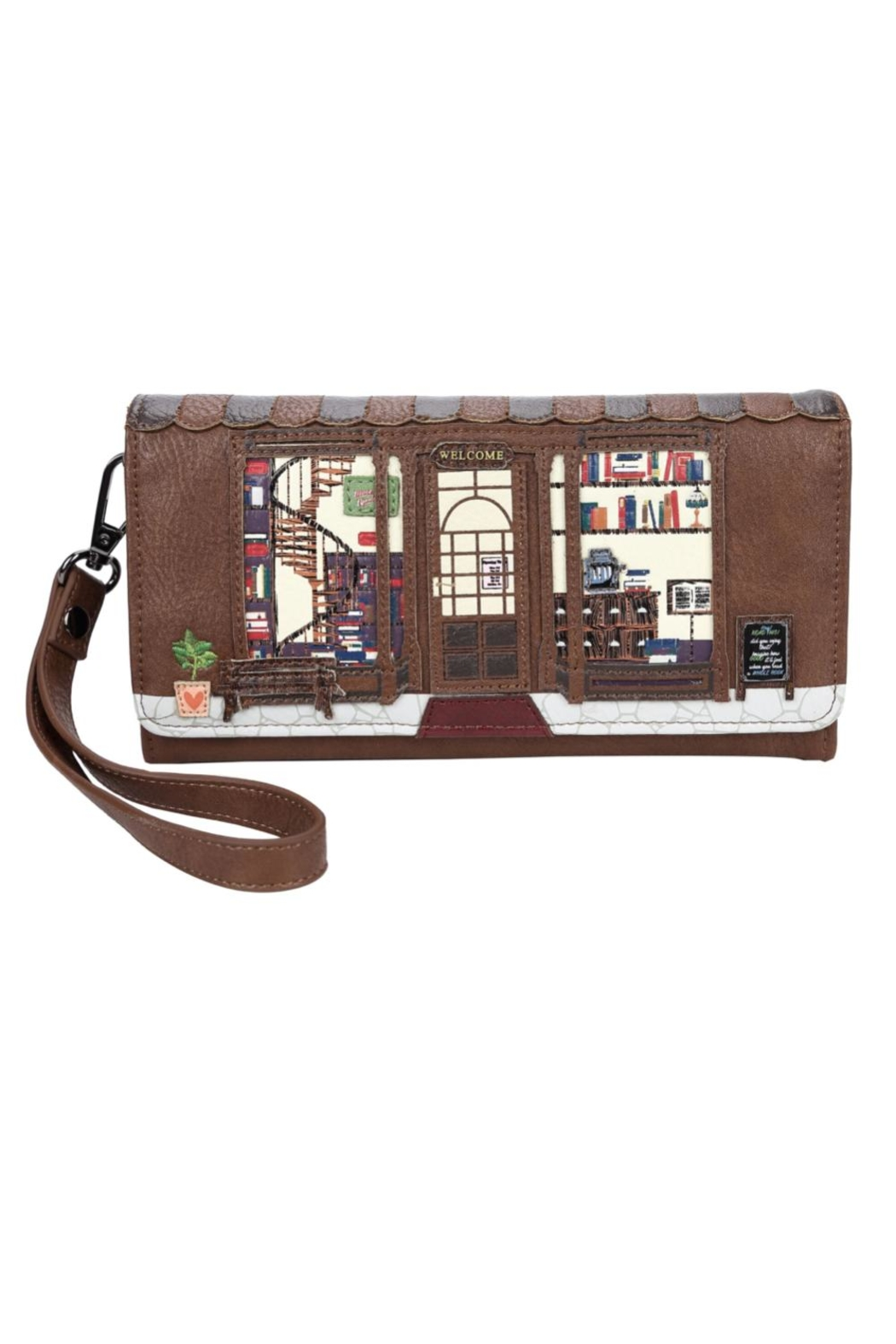Vendula London Book-Shop Flap Wallet - Main Image