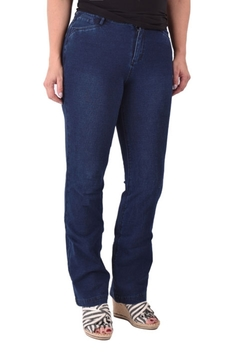 Shoptiques Product: Boot-Cut Denim Knit Jean