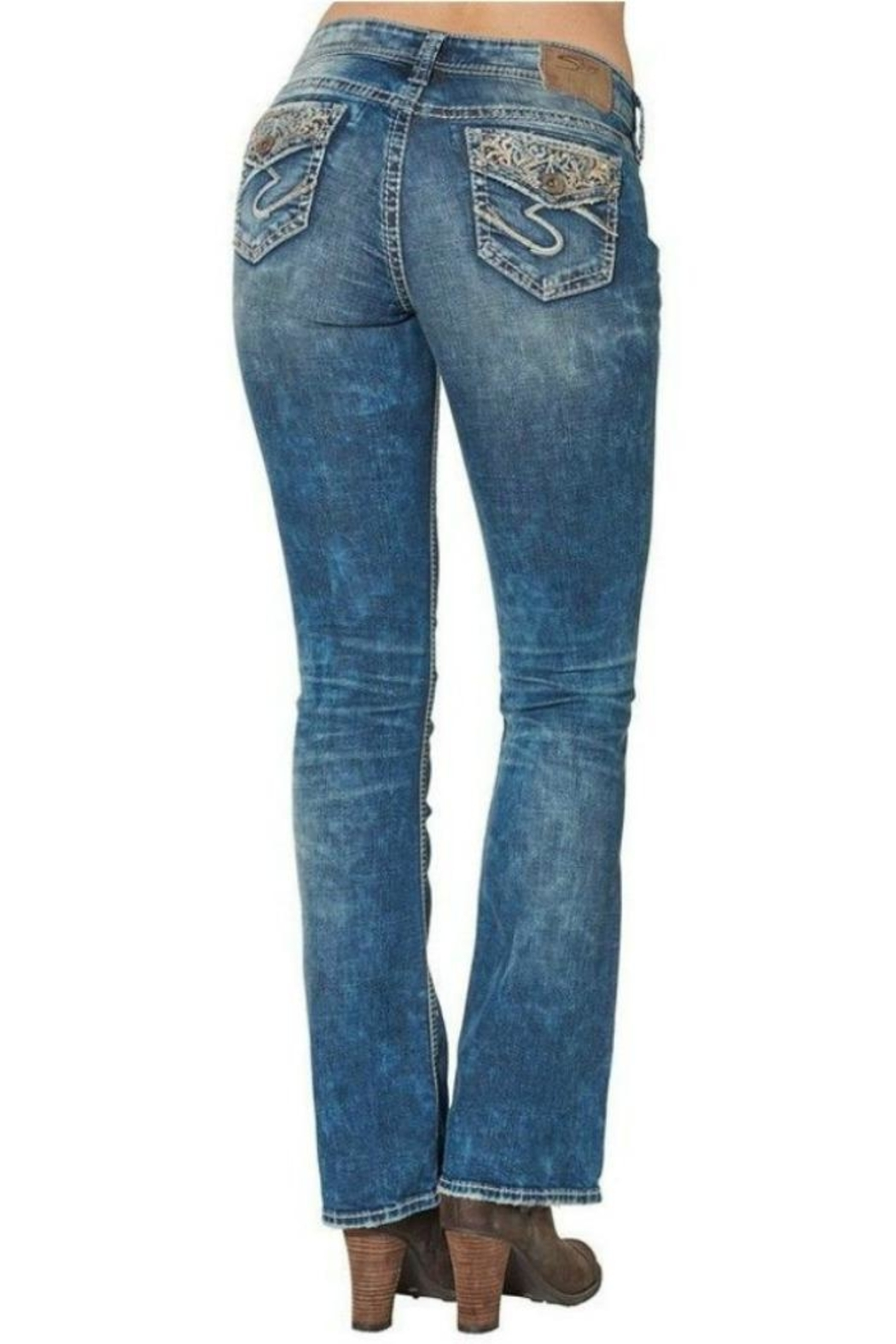 Silver Jeans Co. Boot Cut Jeans - Front Full Image