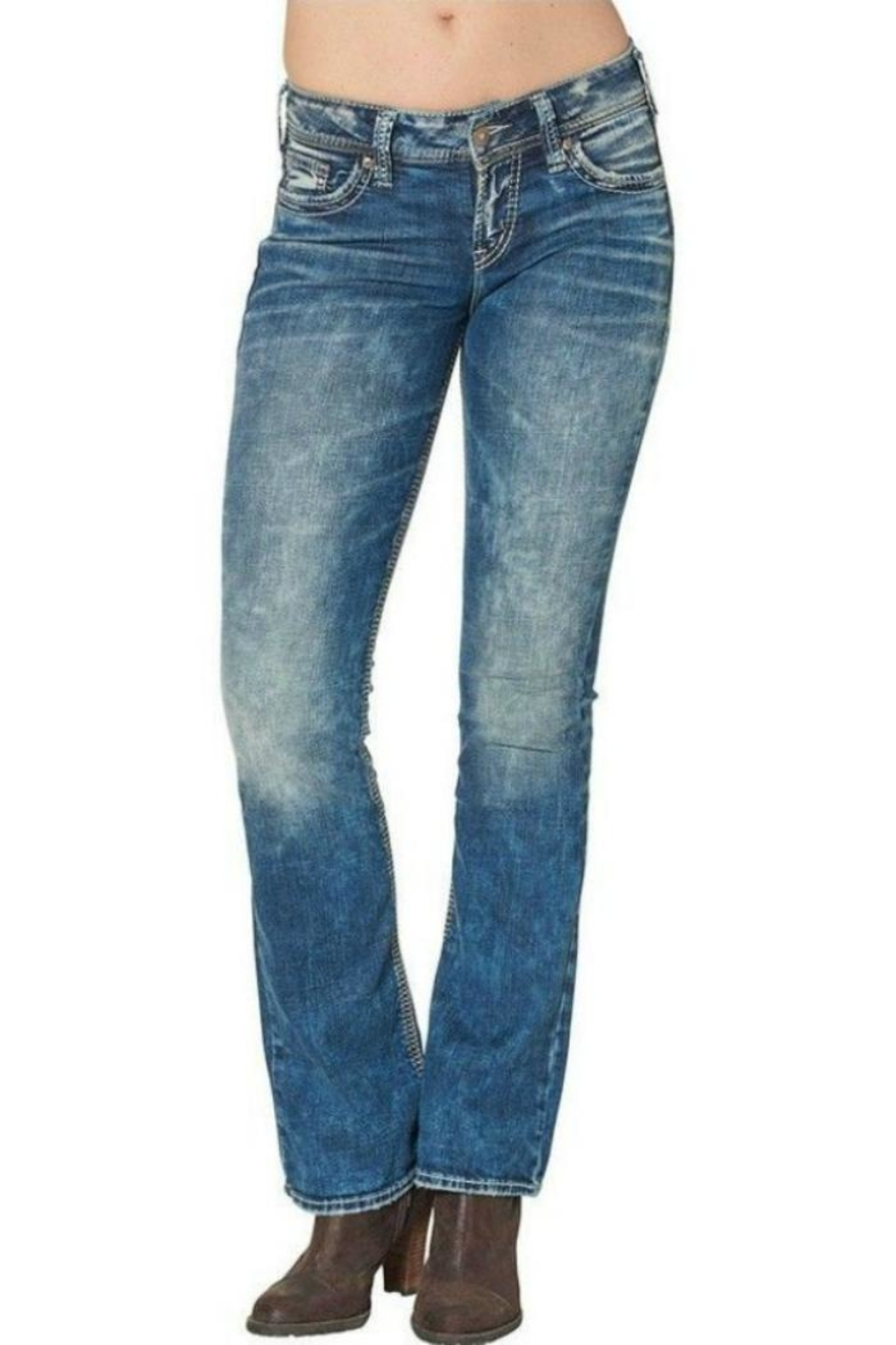 Silver Jeans Co. Boot Cut Jeans - Front Cropped Image