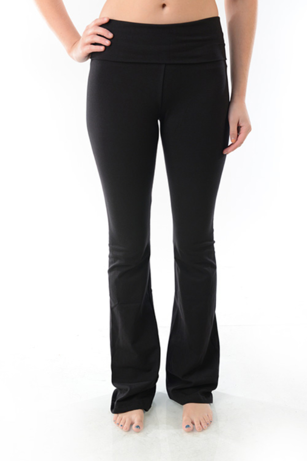 T-Party  Boot Cut Leggings - Front Cropped Image