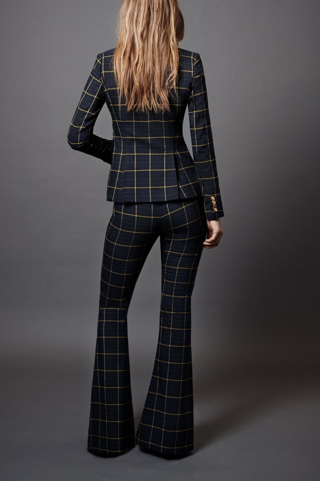 Smythe Bootcut Checks Pant - Front Full Image