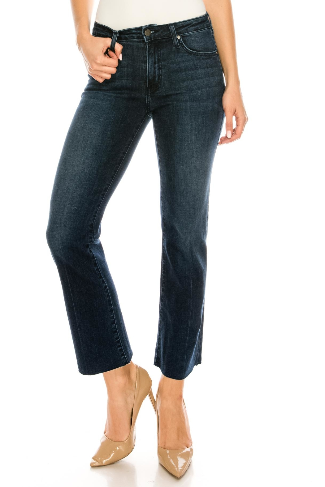 just black Bootcut Cropped Jeans - Main Image