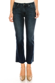 just black Bootcut Cropped Jeans - Front full body