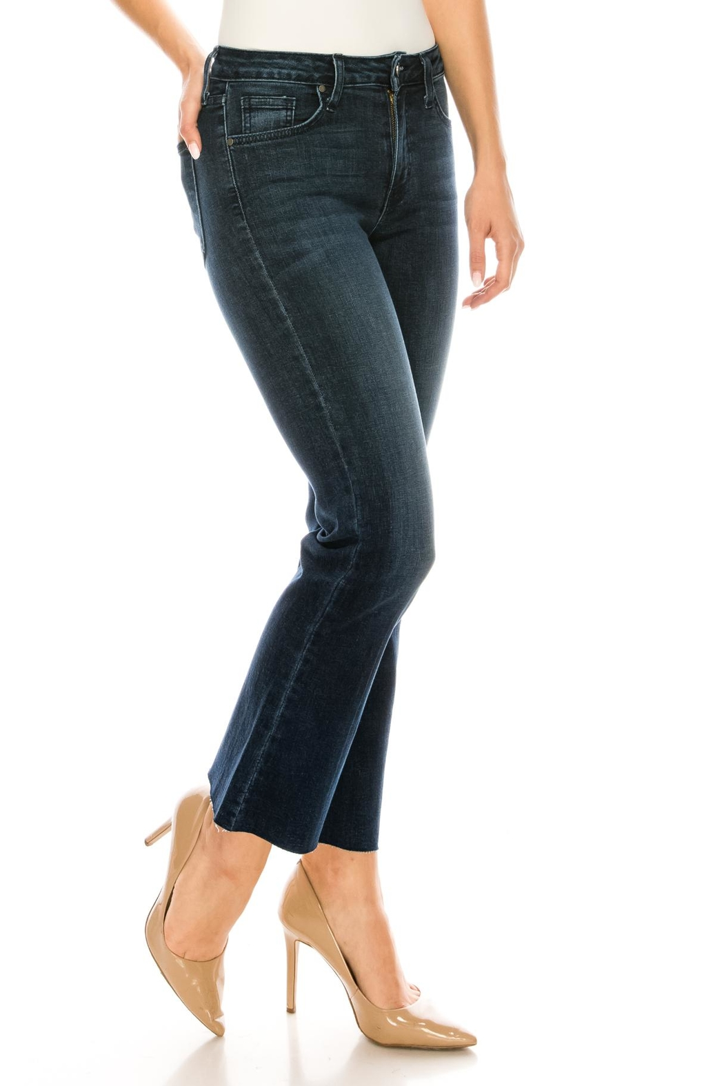 just black Bootcut Cropped Jeans - Side Cropped Image