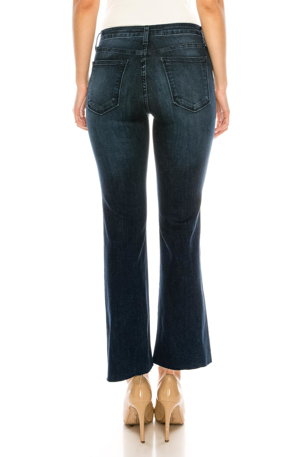 just black Bootcut Cropped Jeans - Back Cropped Image