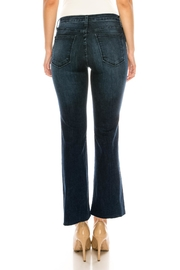 just black Bootcut Cropped Jeans - Back cropped