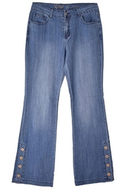 Ethyl Soft Bootcut jeans with cute button detail - Product Mini Image