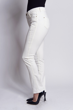 B&K moda Bootcut white pants jeans - Product List Image