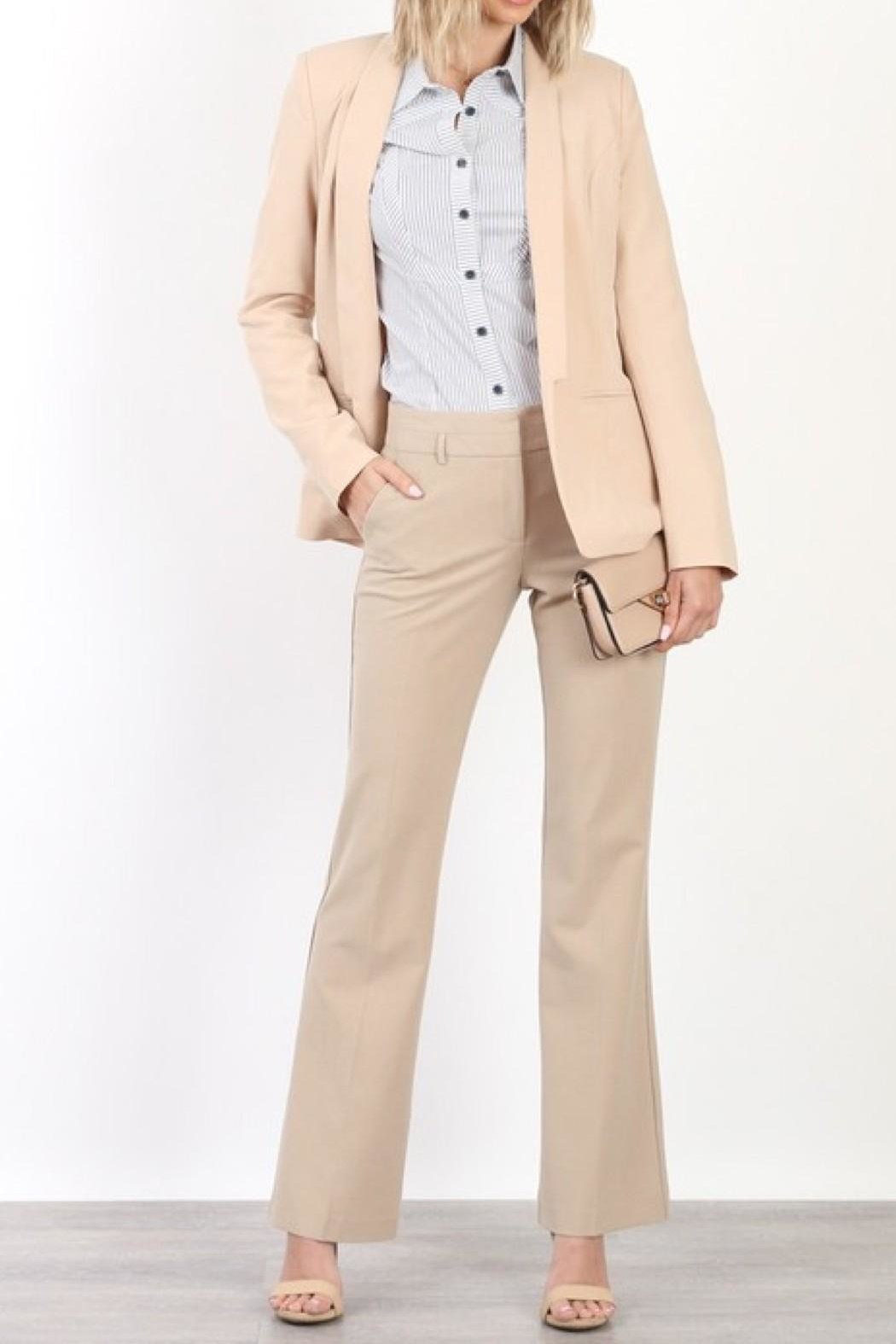 Mary Clan Bootcut Work Trousers - Front Cropped Image