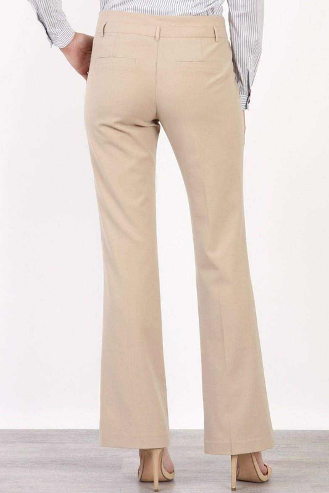 Mary Clan Bootcut Work Trousers - Side Cropped Image
