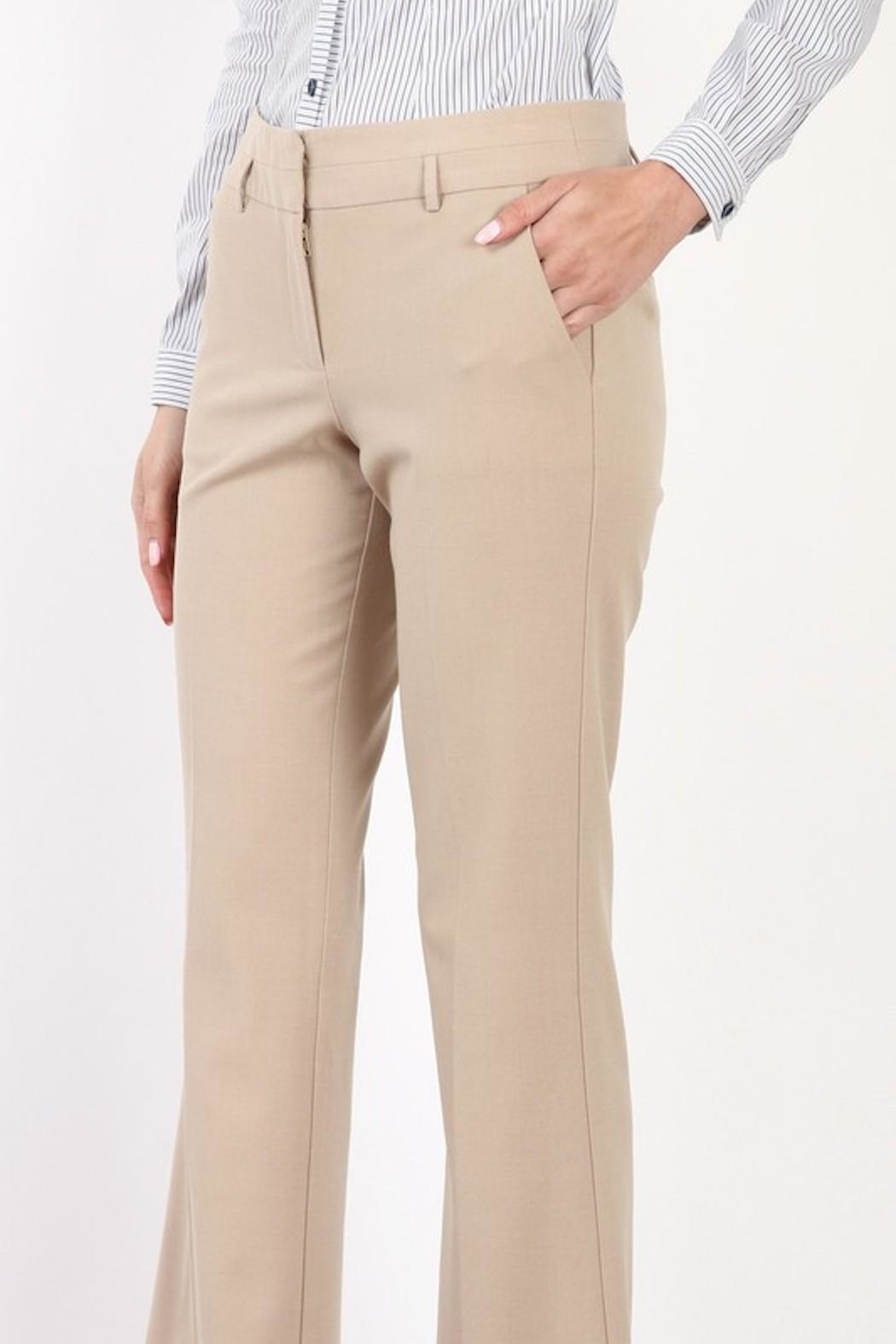 Mary Clan Bootcut Work Trousers - Front Full Image