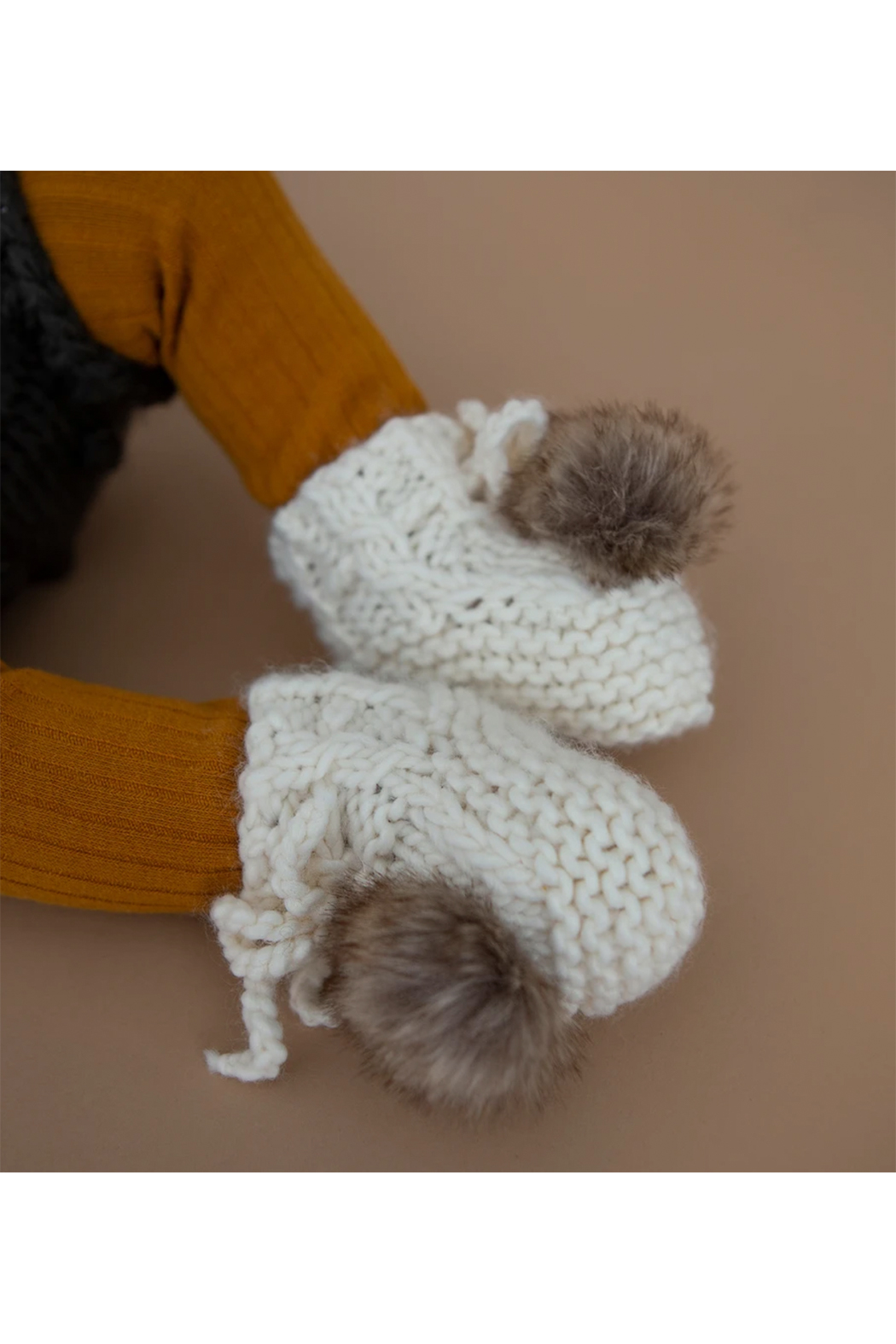 The Blueberry Hill Booties With Pom - Front Full Image