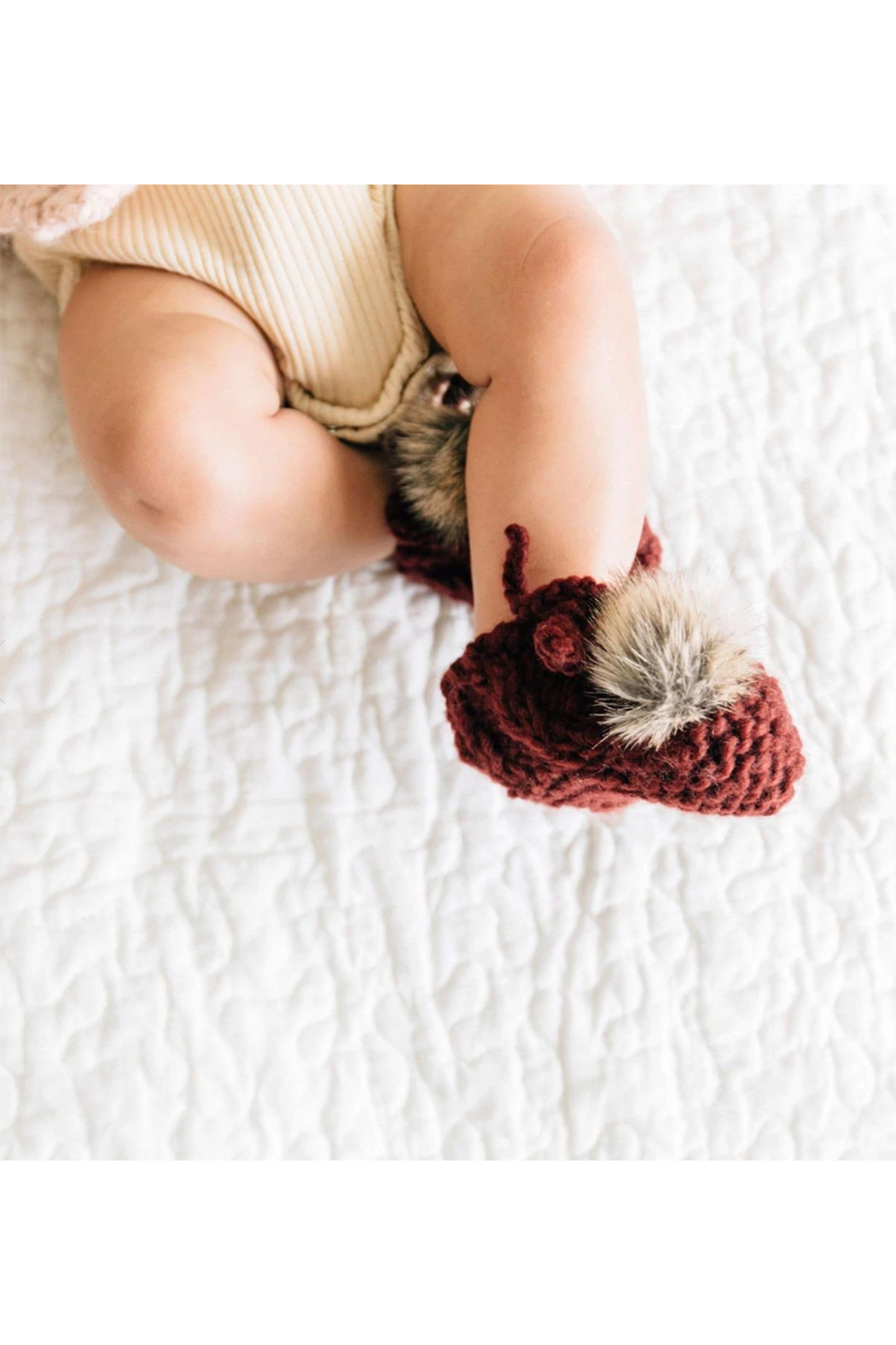 The Blueberry Hill Booties With Pom - Front Cropped Image