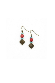 bops Coral Turquoise Drop Earrings - Product Mini Image