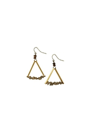 bops Gold Triangle Earrings - Product Mini Image