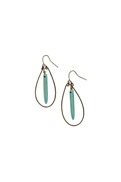 bops Teardrop Turquoise Spike Earrings - Product List Image