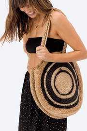 Love Stitch Bora-Bora Round-Jute Tote - Front full body