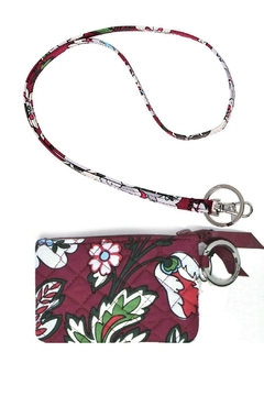 Vera Bradley Bordeaux Blooms Zip-Id/lanyard - Alternate List Image